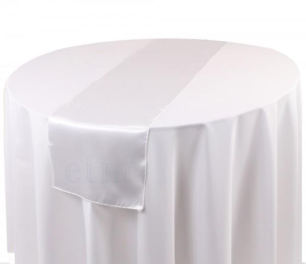Satin Tischläufer weiss