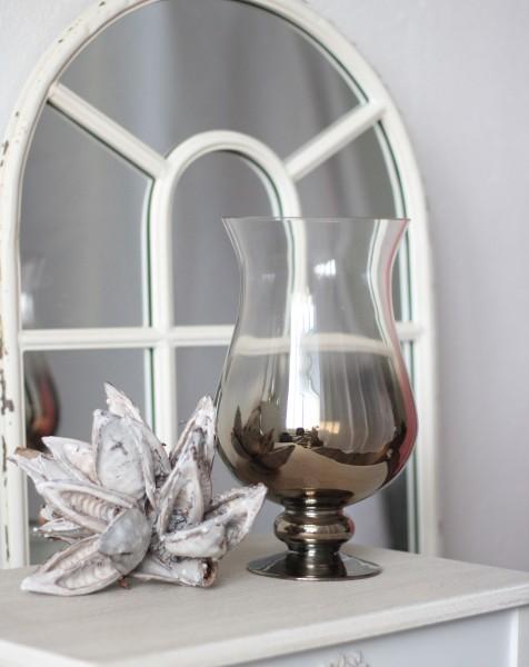 Glas Windlicht MIRROR mit Farbverlauf H30cm