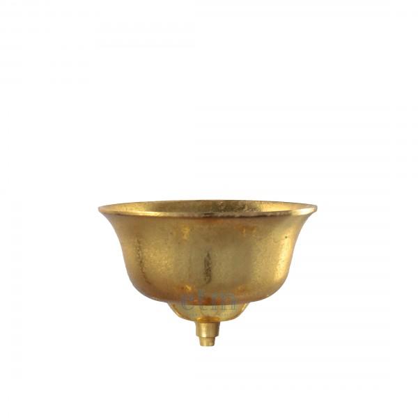 Blumenschale für Kerzenhalter gold