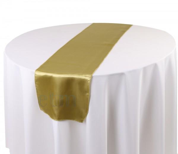 Satin Tischläufer antikgold