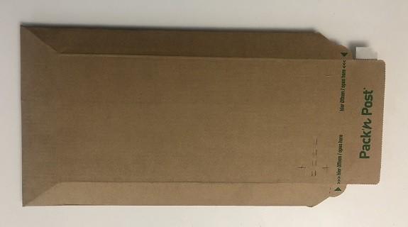 10 Stk. Versandtasche Wellpappe C5+ 150 x 250 mm